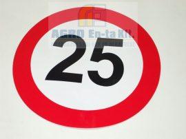SEBESSÉGKORLÁTOZÓ MATRICA 25 NAGY